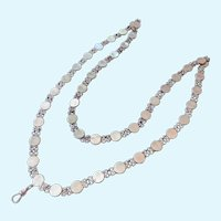 Exceptional Sterling Silver 925 Guard Chain with Swivel Clip