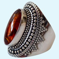 Sterling Silver 925 Amber Ring Suarti BA Indonesia