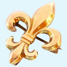 Symmetalic Sterling & 14K Gold Fleur de Lis Watch Pin