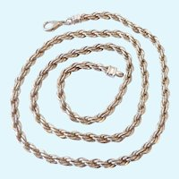 Substantial Sterling Silver 925 Rope Chain Necklace Heavy 46.7 Grams