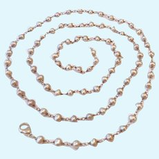 Honora Sterling Silver 925 Cultured Pearl Station Necklace Over 35 Inches
