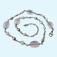 Silpada Sterling Silver 925 & Rock Crystal Necklace