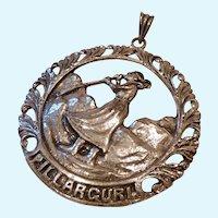 Large 830 Silver PIllarguri Pendant Norway Signed