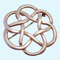 Larger Sterling Silver 925 Celtic Design Brooch or Pendant