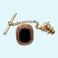 14K Gold & Black Onyx Tie Tack