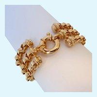 Bold 3 Strand Rolo Link Bracelet Joan Rivers