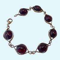 Sterling Silver 925 & Cherry Amber Bracelet