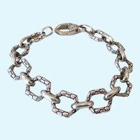 Asch Grossbardt Sterling Silver 925 Pebbled Link Bracelet