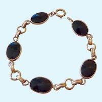 Vintage 12K Gold Filled Black Onyx Bracelet Van Dell