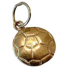 Little 14K Gold Soccer Ball Charm or Pendant