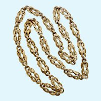 Square Knot Love Knot Link Necklace Endless