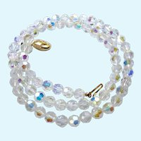 Vintage Swarovski SAL Clear Crystal Necklace