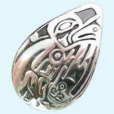 Signed Jean Ferrier Sterling Silver 925 Pendant Raised Design