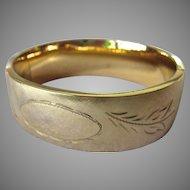 12K Gold Filled Hinged Bangle Bracelet Wide