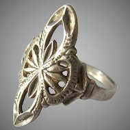 Sterling Silver 925 Open Work Ring