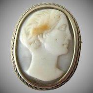 Small Silver/Gold Cameo Pin or Pendant