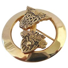 10K Gold Filled USMA West Point 1950 Sweetheart Pin