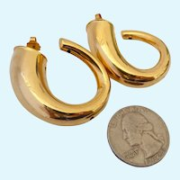 Big Bold Sassy Napier Gold Tone Post Earrings
