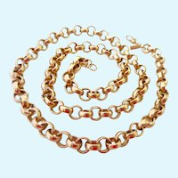 Monet Gold Tone Rolo Link Necklace