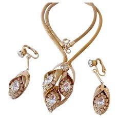Signed Vintage Kramer Necklace & Earrings Set