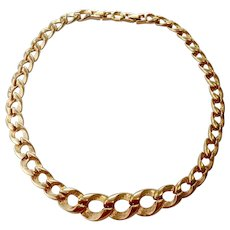 Monet Gold Tone Graduated Curb Link Necklace with Extra Link