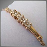 14K Gold Diamond Bracelet with Appraisal .66 TCW Estimated