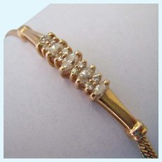 14K Gold Diamond Bracelet with Appraisal .66 TCW Estimated