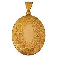 Large Mid-Victorian Gold Locket