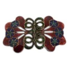 Art Nouveau Buckle Brooch