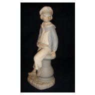 Lladro Matte Sailor Boy With Yacht.