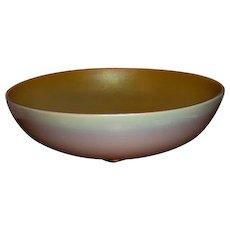 "Steuben Glass Aurene Calcite Fruit Bowl 10"""