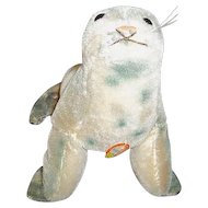 "Steiff Robby Seal Toy 5"" Tall"