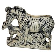 McCoy Pottery Zebra Planter