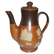 "Royal Doulton Stoneware Salt Glaze Coffee Pot  6 3/4"" Tall"