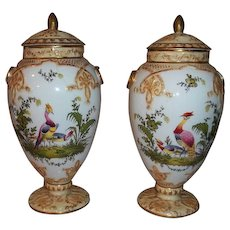 Steve Clive Tunstall Stoke On Trent Fine Porcelain Potpourri Jars with Lids  Circa 1875-1880