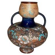 "Doulton Slaters Vase Rare Form   10 3/4"" Tall"