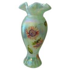 Fenton Art Glass Honor Collection Vase Signed Scott Fenton