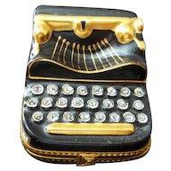 Limoges Rochard  Typewriter Trinket Box