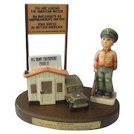 Hummel Figurine Check Point Charlie  #332 Soldier Boy  Trademark 7 with Original Box