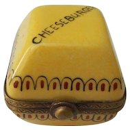 Limoges P V Cheeseburger Trinket Box