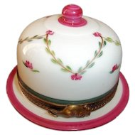 Limoges Chamart  Cheese Dish Trinket Box  Signed