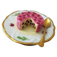 Limoges Trinket Box Dessert Dish with Berries