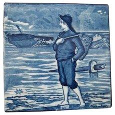 Wedgwood Calendar November Blue Tile