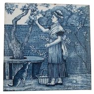 Wedgwood Blue Calendar Tile September
