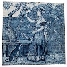 Wedgwood Blue Calendar Tile September