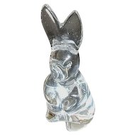 Baccarat Crystal Spinning Rabbit Figurine