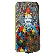 Limoges France Porcelain Trinket Box  Joker or Clown  Signed P H D