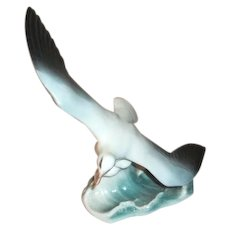Rosenthal Germany Seagull Bird Figurine In Flight