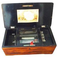 German Swiss Cylinder Music Box Six Tunes