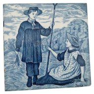 Wedgwood Blue Calendar Tile for June.  6""